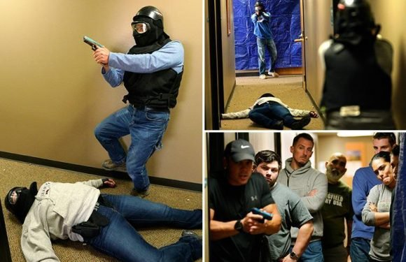 Civilians train how to handle a gun-rampager in wake of school shootings