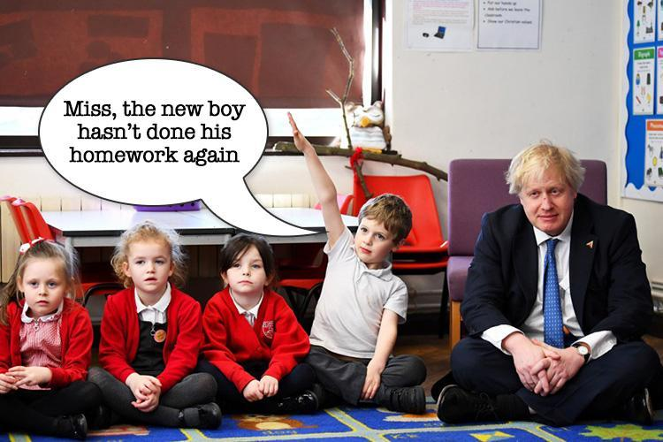 BoJo goes back to school in surprise visit to classroom