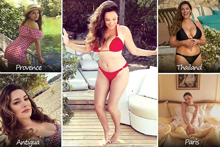 Kelly Brook's 17,000-mile globetrotter holiday album includes snaps from Thailand, France, California and Iceland