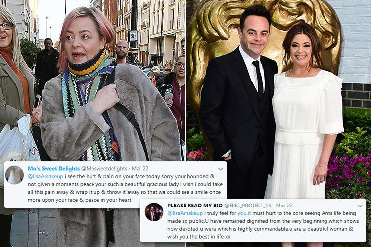Ant McPartlin's estranged wife Lisa Armstrong hints she's 'in pain' as she 'likes' supportive tweets from fans after Ant returns to rehab