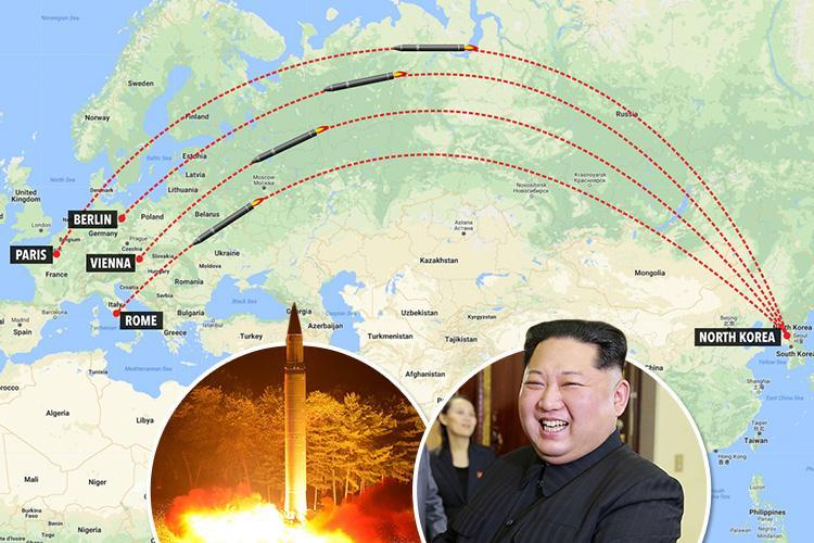 Kim Jong-Un 'could launch unprovoked strike on Europe with new missile', Germany warns