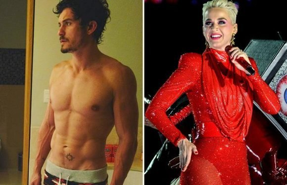 Katy Perry drools over boyfriend Orlando Bloom's 'washboard' abs in sexy Instagram shot