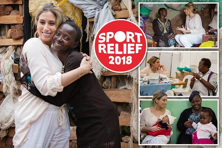 Stacey Solomon's joy as she meets women taking control of their lives thanks to Sport's Relief's sexual health clinic