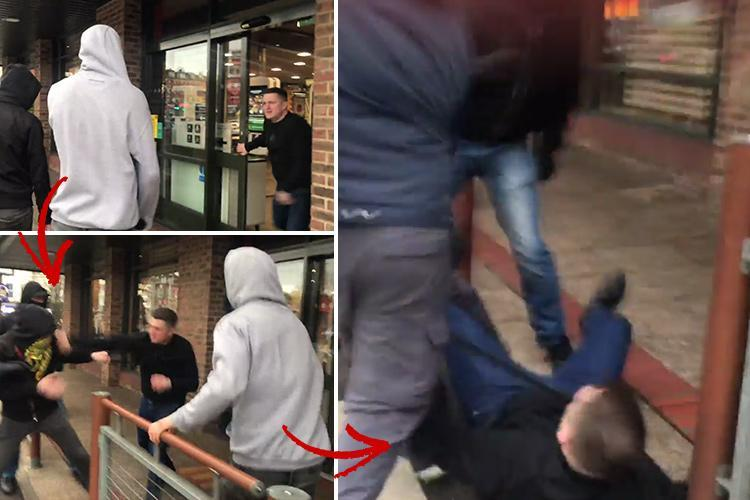English Defence League founder Tommy Robinson 'kicked to the ground by hooded men outside London McDonald's'