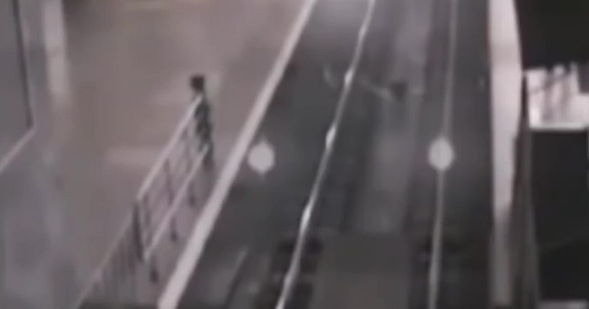 CCTV shows 'ghost train' pulling into station 'to pick up passengers'