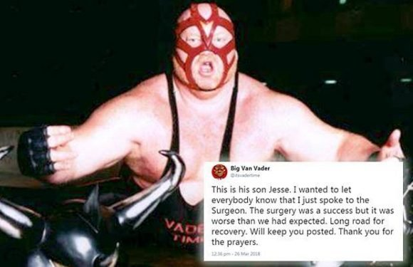 WWE legend Vader undergoes open heart surgery after being given just two-years to live