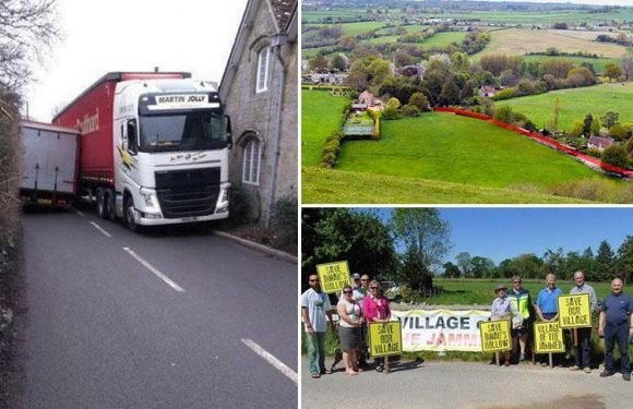 Quaint Dorset village ruined by 18 traffic jams a week after bumbling council diverts lorries through it