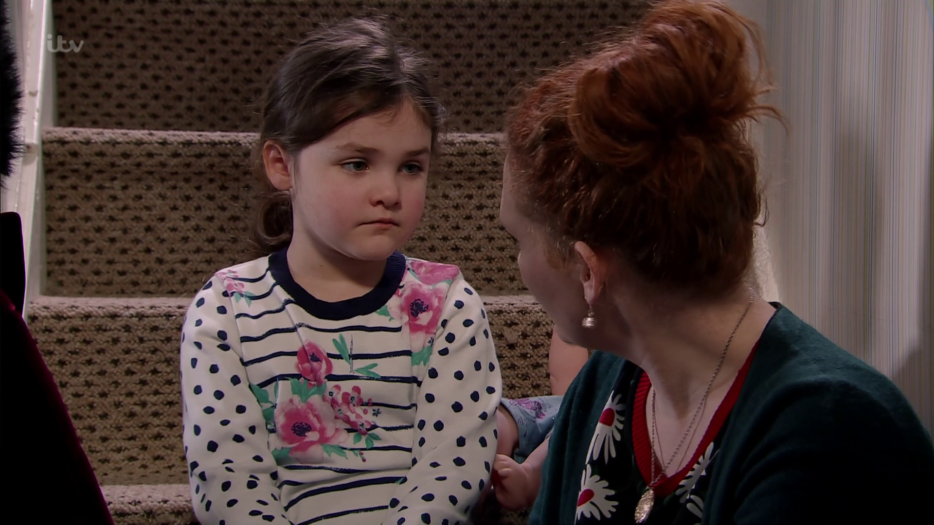 Coronation Street viewers compare Hope to a 'devil child' as she's caught trying to push her cousin down the stairs