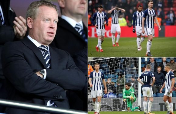 West Brom chief executive reveals club has 'no more money for wages' as Premier League relegation looms