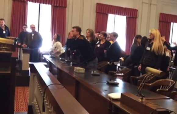 Angry anti-vax mob to NJ lawmakers: 'You are going to hell!'