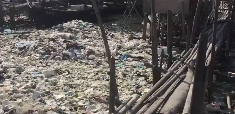 Indonesia is struggling to unclog this plastic-filled river