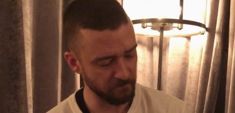 "Justin Timberlake Steals Son Silas's Toy Because That's What ""Dad Life"" Is All About"
