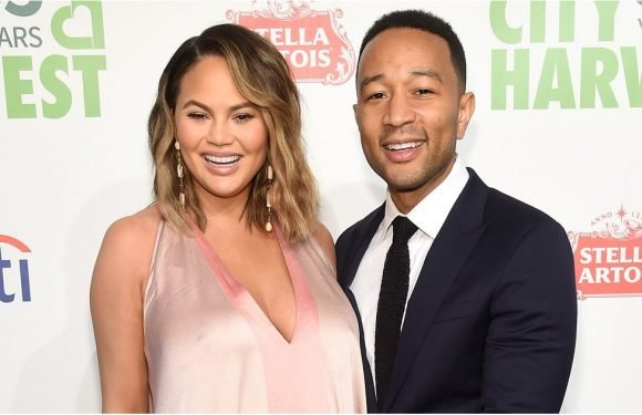 Chrissy Teigen Walked Down the Street in a Pink Gown, and Time Stopped in Its Tracks