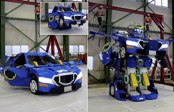 Real-life Transformer morphs from a robot into a two seater CAR