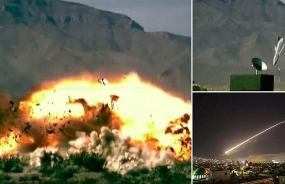 Incredible moment bunker-busting missiles shred targets during testing