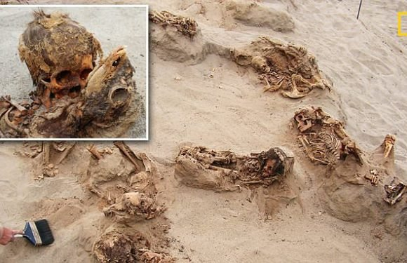 Archaeologists probe grisly site of largest known mass child sacrifice