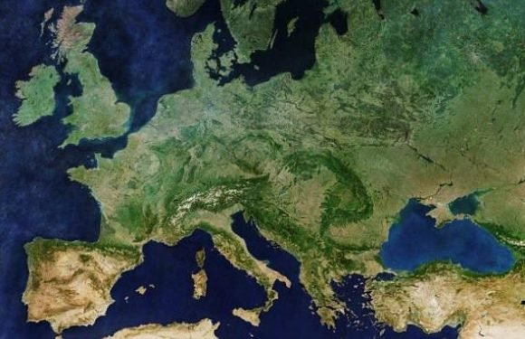 Stunning mosaic of satellite images reveals incredible view of Europe