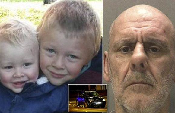 Serial criminal jailed for nine years for mowing down two young boys