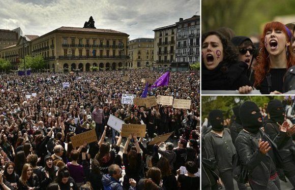 Thousands take to streets of Pamplona to protest against rape verdicts
