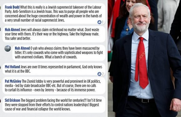 Jeremy Corbyn's Facebook page is littered with vile anti-Semitic posts
