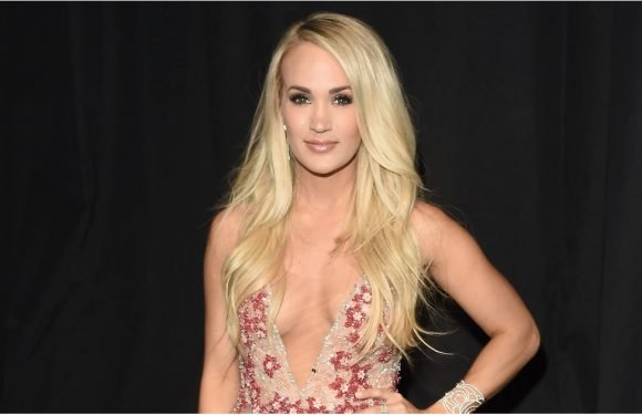 Carrie Underwood Hit All the Right Notes in This Dreamy, Sheer Floral Gown at the ACM Awards