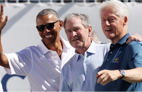 Forget Trump, Let's Just Look at Pictures of 3 Former Presidents Watching Golf Together Forever