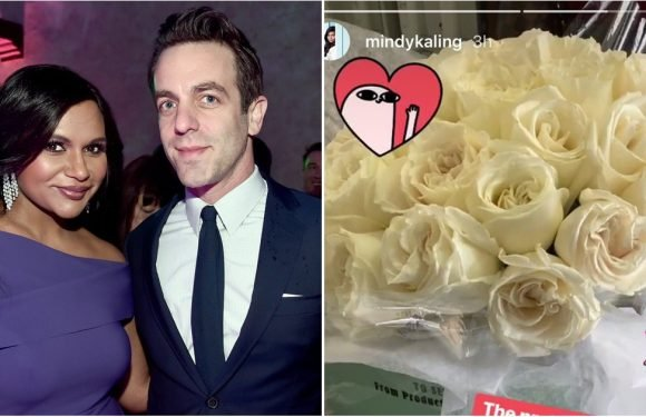 "B.J. Novak Sent Mindy Kaling the ""Prettiest"" Flowers — but Wait Until You See His Sweet Note!"