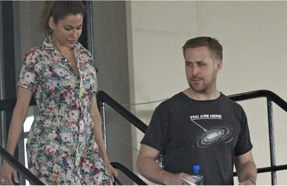 Ryan Gosling and Eva Mendes Make a Very, VERY Rare Appearance Together in LA