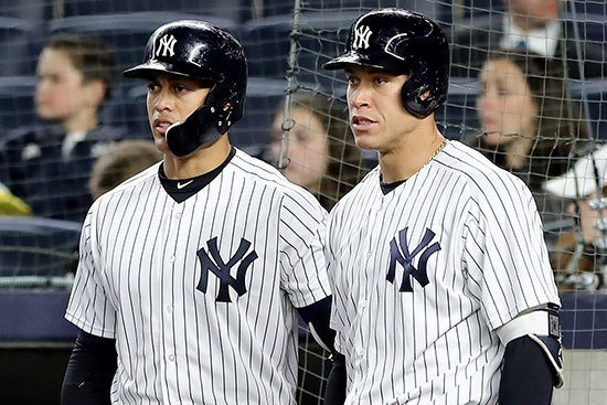 Aaron Judge's hot start is best thing for cold Giancarlo Stanton