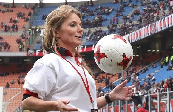 Meet AC Milan's new signing – Ginger Spice! Geri wows with her keepy-uppy skills