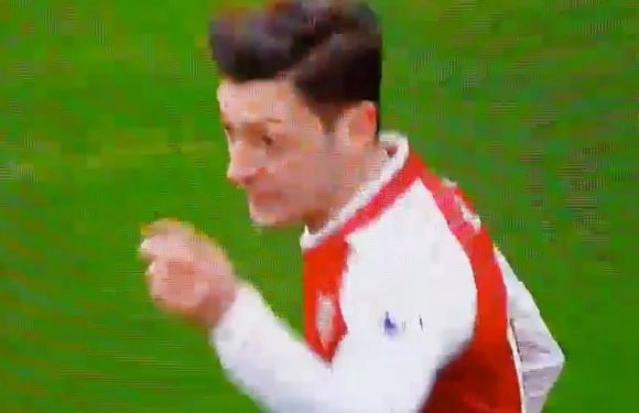 Arsenal fans spot what Ozil said to Bellerin in heated on-pitch argument