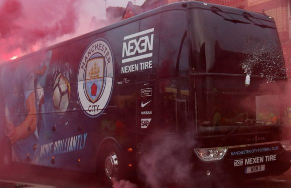 Man City bus stopped at scene of Anfield attack to treat injured Liverpool fan