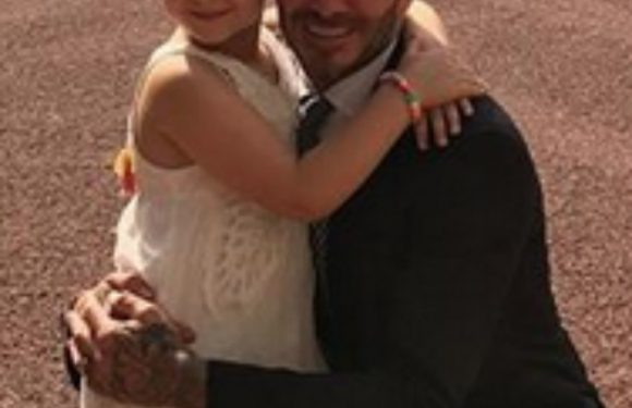David Beckham lets Harper drive his car – and her reaction is adorable!