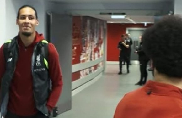 Liverpool tunnel cam reveals Van Dijk's cheeky explanation for Salah's form