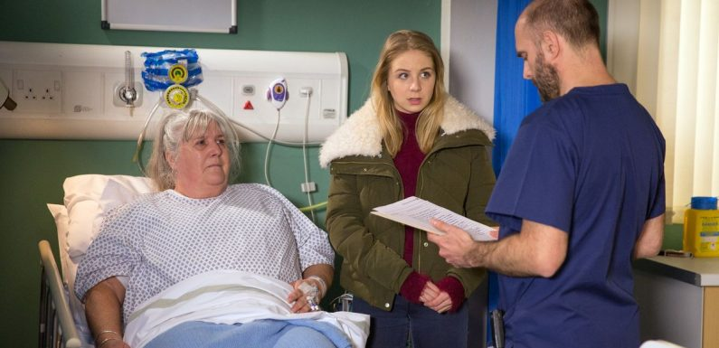 Fears for Lisa Dingle as she is rushed to hospital on Emmerdale