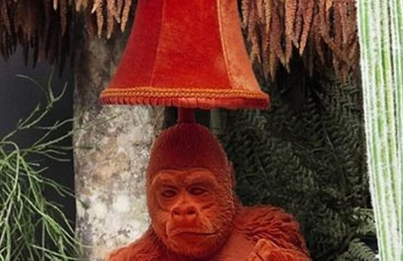 Debenhams selling table lamp with gorilla making 'suggestive gesture'