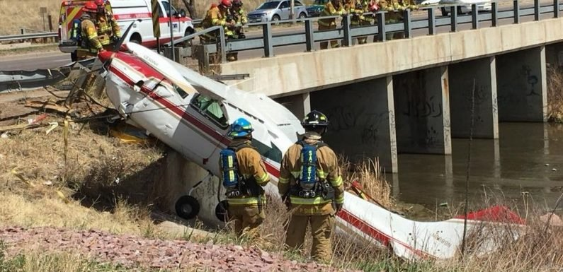 Drive-thru customer captures plane crashing onto road without hitting ANYONE