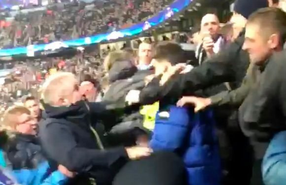 Brawl breaks out in Man City family stand after 'Liverpool fan' celebrates goal