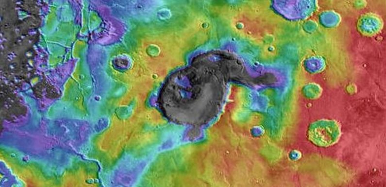 NASA scientists identify the remains of a giant supervolcano eruption on Mars