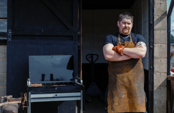 Blacksmith saves his business by making bondage contraptions and kinky sex toys
