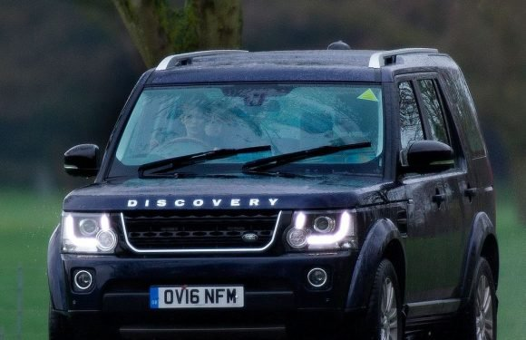 Prince Edward's son gets behind wheel of car aged just 10