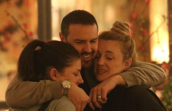 Paddy McGuinness cuddles up to two female friends after Nicola Appleton drama