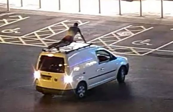 Man who did press-ups on top of moving van gets driving ban for 'insane' stunt