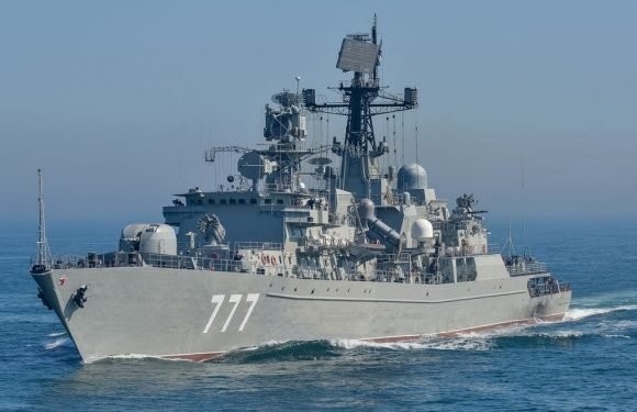 Russian destroyer battleship enters Channel and UK warships sent to intercept