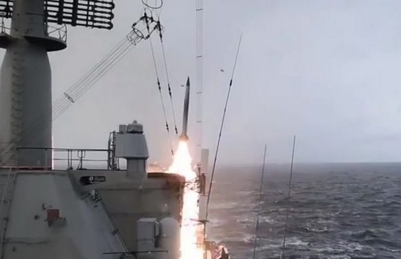 Russia launches missile tests from Navy cruiser in latest deadly weapons boast