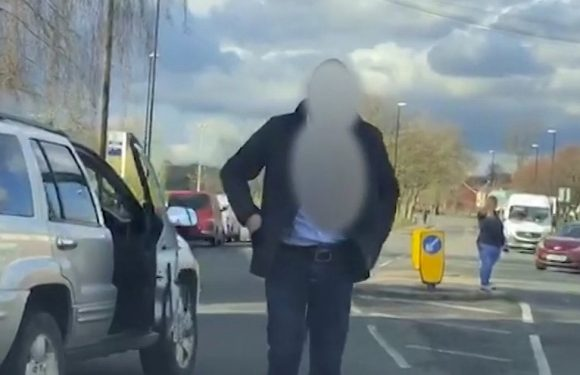 Road rage driver's shocking racist rant at man with tanned skin