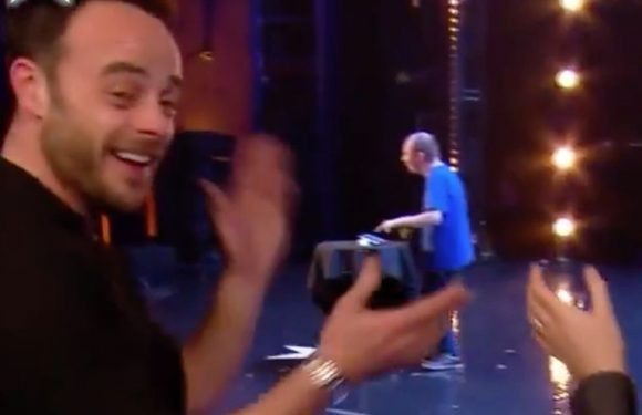 Ant McPartlin cheers for 'lost voice' comedian who wows the crowd on BGT