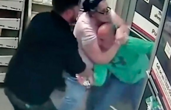 Female shop worker traps thief in chokehold after he punched her