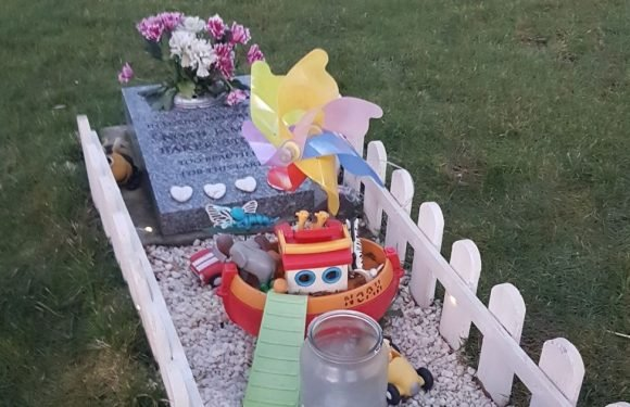 Grieving mum ordered to remove toys from son's grave four years after stillbirth