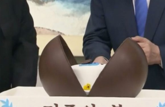 Reason Korean leaders risk Japanese anger after unveiling cake at summit banquet